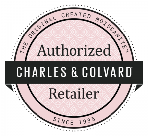 Charles and Colvard Moissanite Authorized Retailer Seal