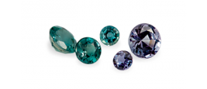 image showing the colour change of alexandrite