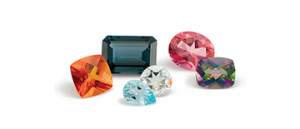different cuts and colours of topaz gemstones