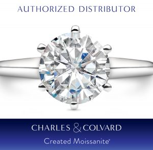 authorized distributor and retailer of charles and colvard created moissanite