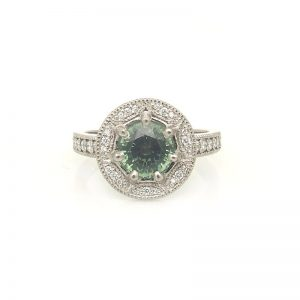 green-sapphire-vintage-white-gold-engagement-ring-with-milgrain-detail