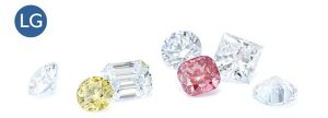 pictures of lab grown diamonds in different shapes and colours